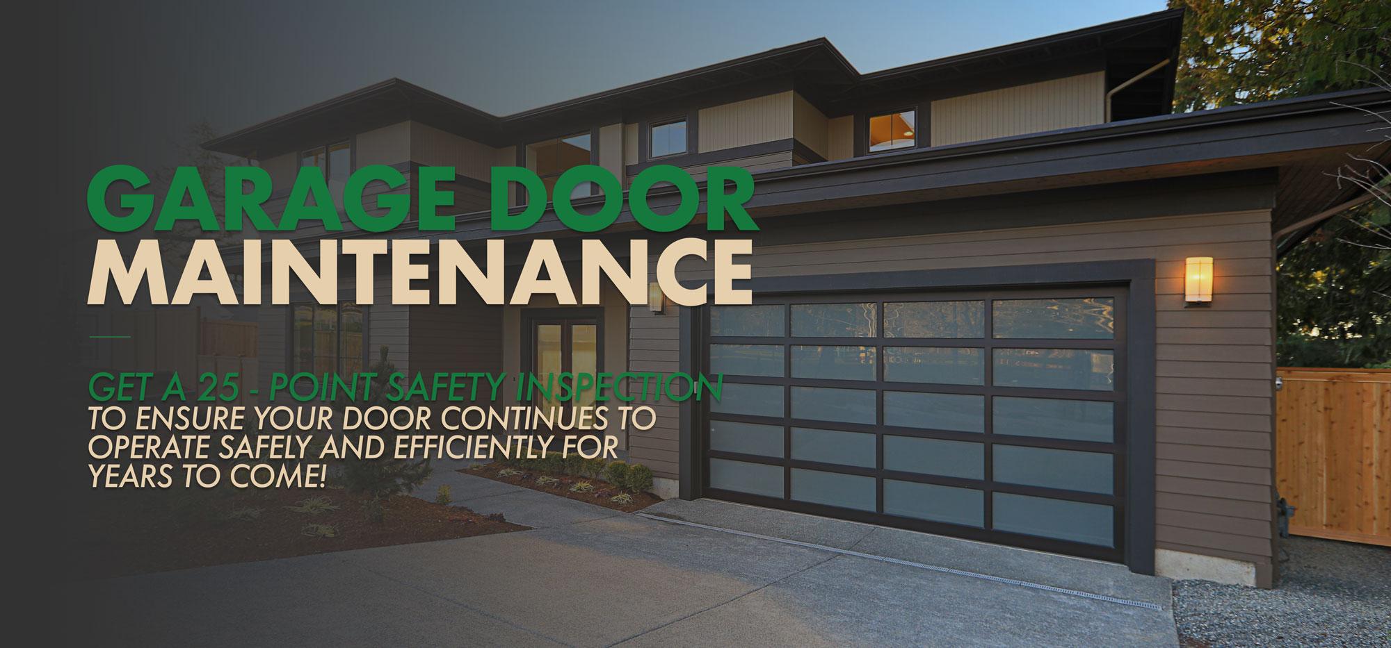 Garage Door Maintenance Program Precision Door Service