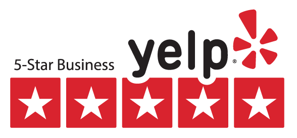 5 Star Business Yelp Review Badge