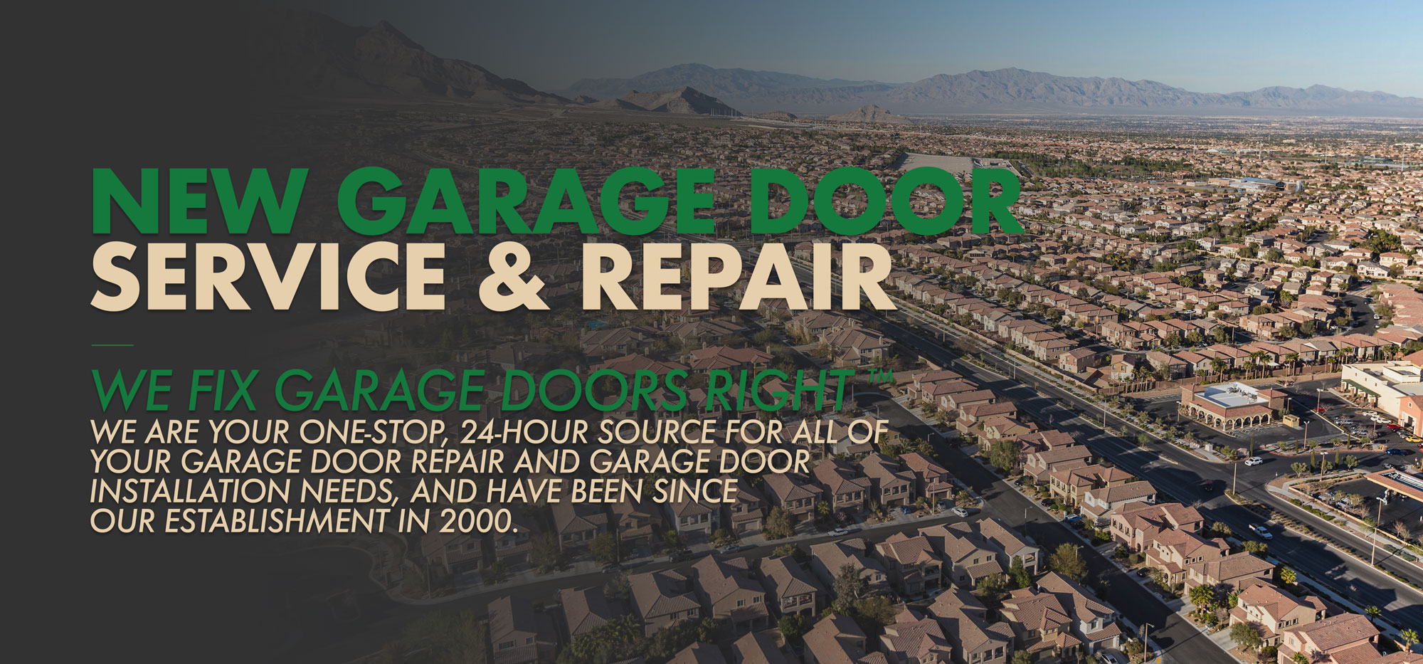 New Garage Door Service & Repair