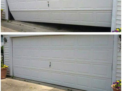 Before and After Off Track Garage Door