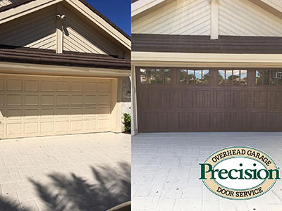 Before and After Garage Door