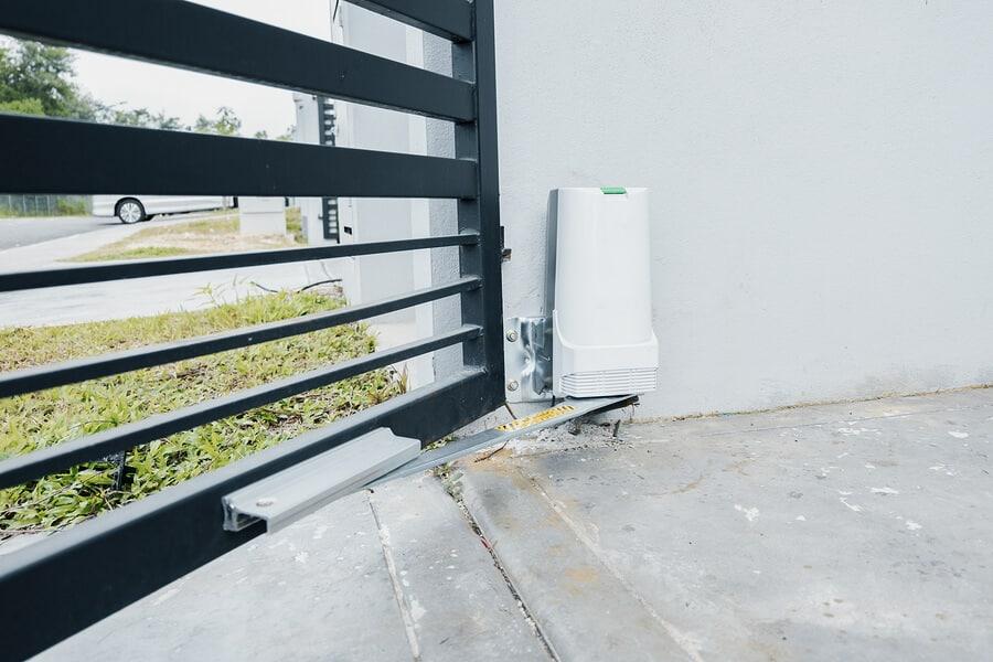 wall-mounted garage door motor