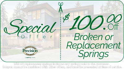 $100 Off Broken or Replacement Springs Coupon