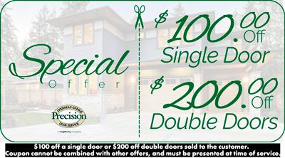 $100 Off Single Door or $200 Off Double Doors